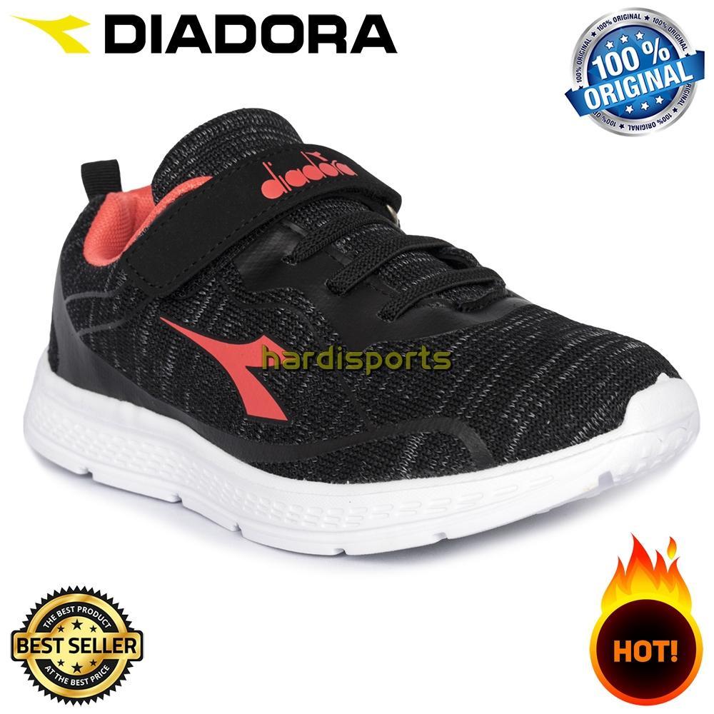 Sepatu Running Sneaker Anak Diadora Geremia JR (G) DIACX80109BP - Black Pink