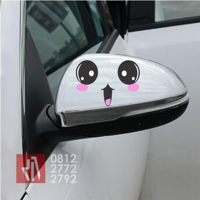 Cutting sticker mobil cute face spion 15cm, stiker vari