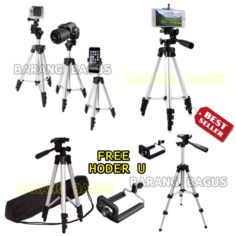 Tripod Kamera / HP Tinggi 1M Profesional WT-3110A + Holder U [barang bagus ]