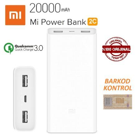 Xiaomi Mi Power Bank 2C Fast Charging 20000mAh