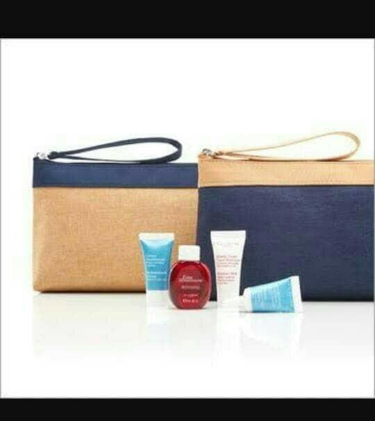 AMENITY KIT TRAVEL NEW EDITION GARUDA CLARINS PARIS - cbgMmd