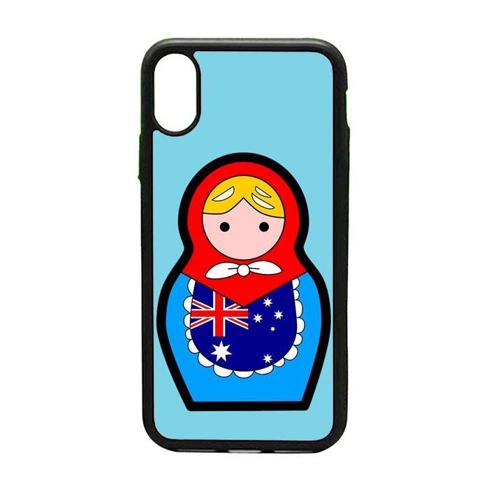 Casing Custom iPhone X Australia Matroska Fifa 2018 L2555