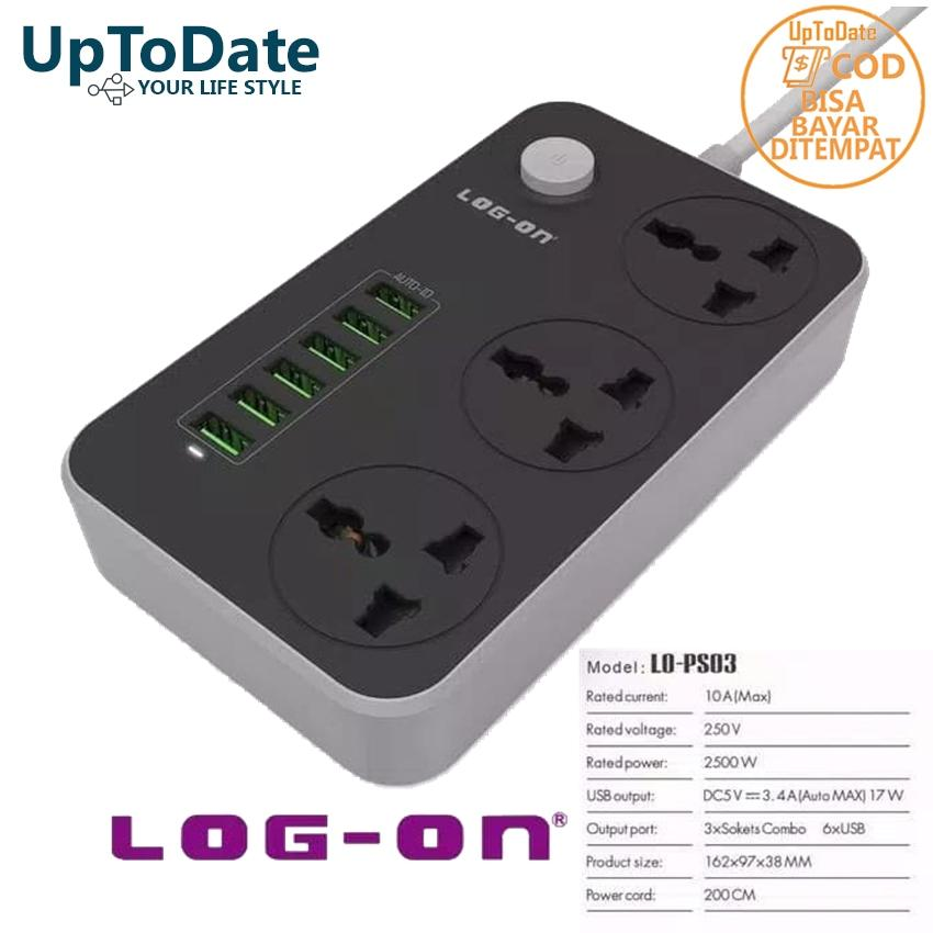 Charger Log - On CHARGER LOGON 6 PORT USB + 3 POWER SOCKET LO-PS03
