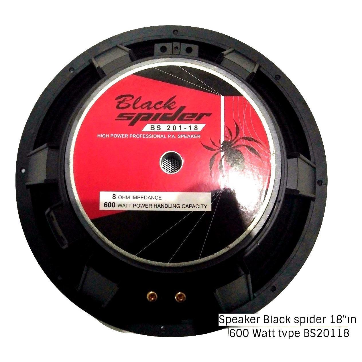 Speaker Black Spider 18in Type 20118 Coran