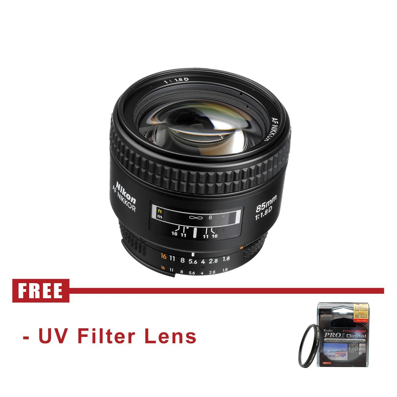 Lensa Nikon AF Nikkor 85mm f/1.8D - FREE UV Filter Lens