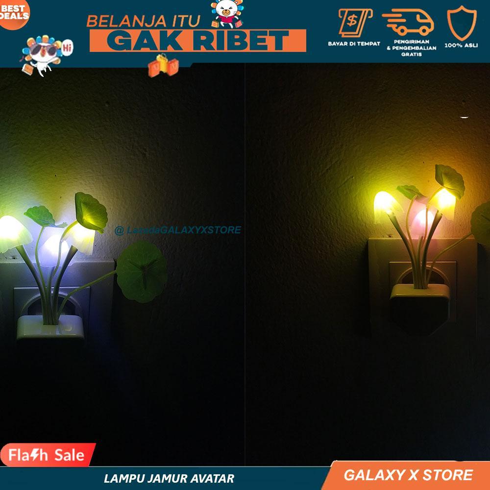 Lampu Tidur Jamur Sensor Cahaya / Lampu Jamur Avatar Multi Color LED / Lampu tidur Jamur