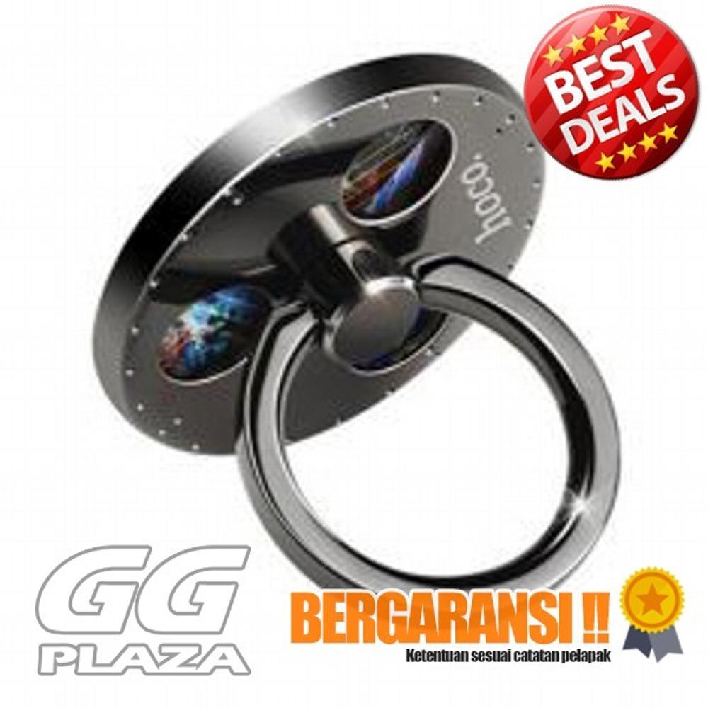 Hoco Gyros Finger Iring Hook Smartphone - PH4 - Dark Silver