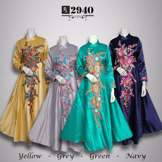 Toko Kirana Surabaya Gamis maxi dress baju gaun pesta busana muslim Syahila 940