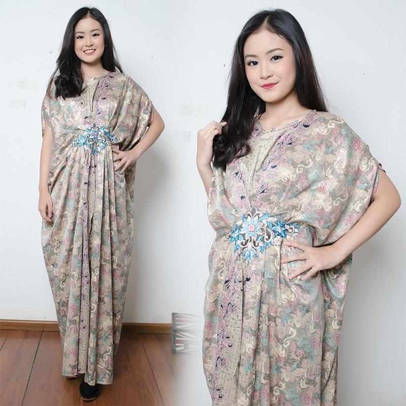 Cj collection Dress maxi panjang gamis kaftan tangan panjang wanita jumbo long dress Nabila