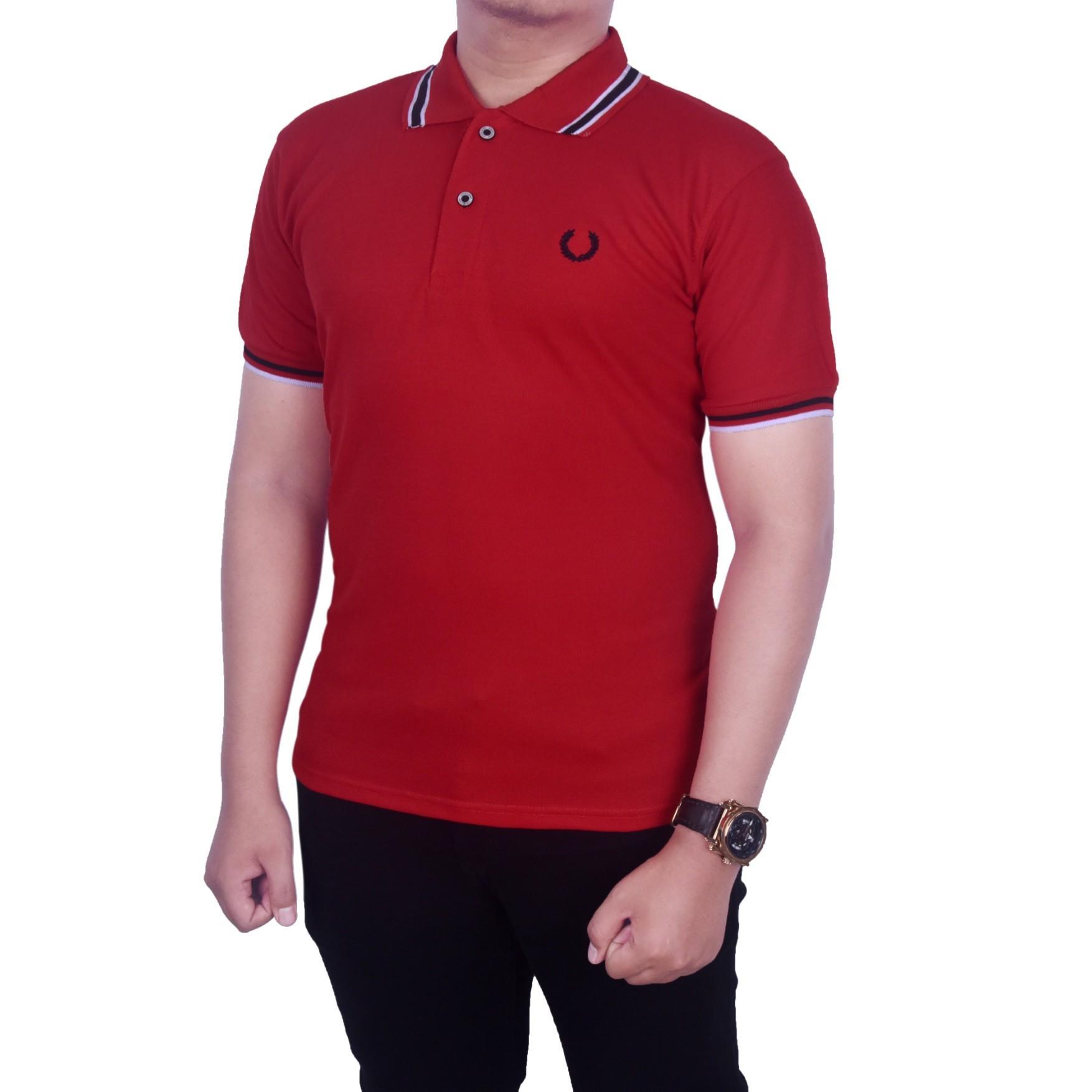 Dgm_Fashion1 Kaos Polo Kerah Polos Merah/ Polo Sanghai/baju kaos pria polos/ polo