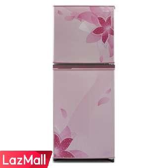 Sharp SJ-236ND-FP (Refrigerator 2 Door Flower Pattern Pink) Kulkas 2 Pintu - Pink
