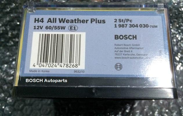 Aksesoris Interior Mobil Bohlam Xpander H4 BOSCH All Weather Plus