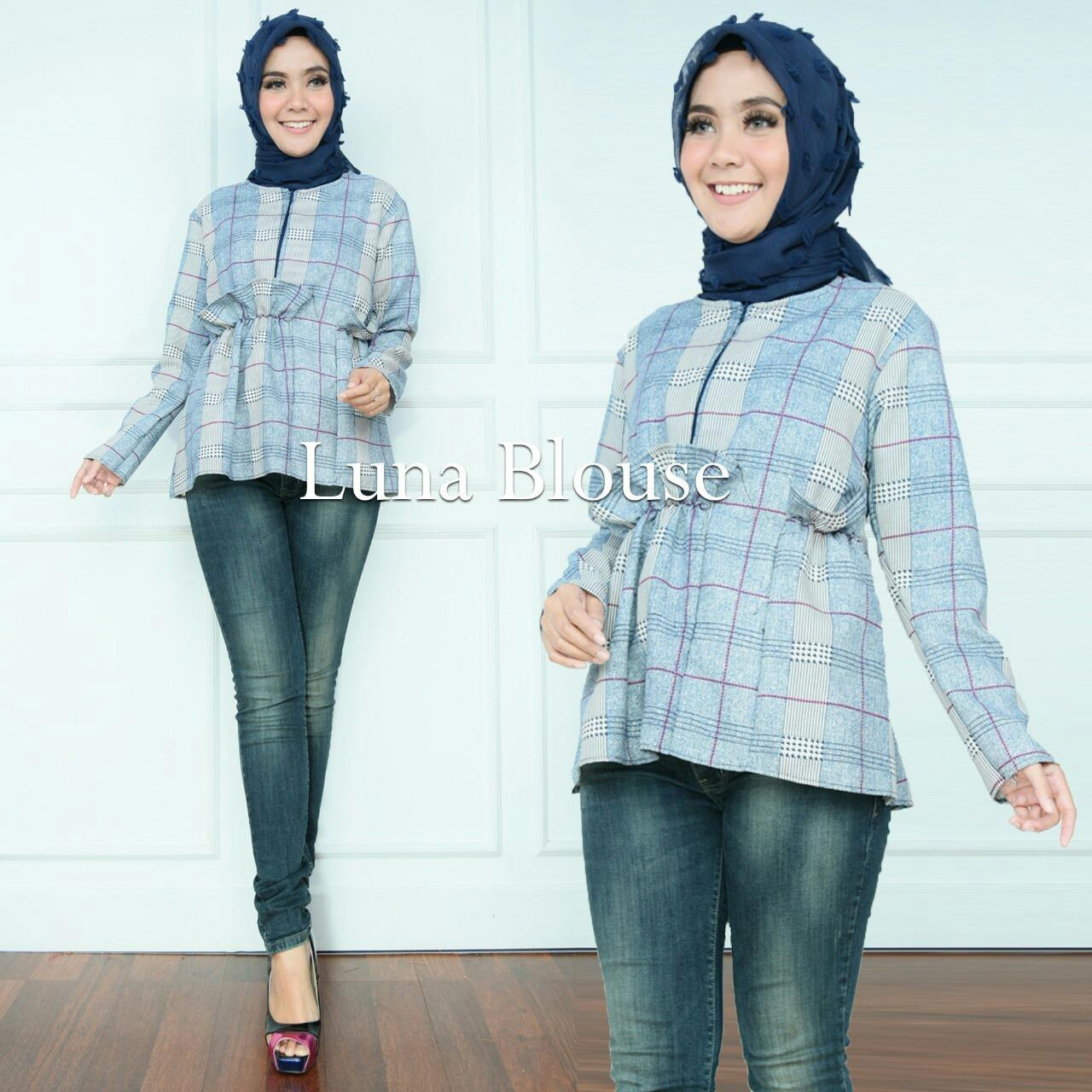Fashion Story - Blouse Cantik Murah / Blouse Baju Muslim / Atasan Muslim High Quality / Baju Real Pic