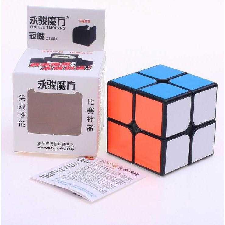 Rubik 2x2 Yongjun Guanpo Blackbase / Jual Rubik Murah | Toy