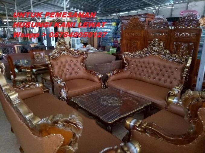 Kursi Sofa Jepara Romawi Royal Classic Ukir Kayu Jati Yang Minat Hubungi Kami Lewat Wsapp_O87848050127_Kami