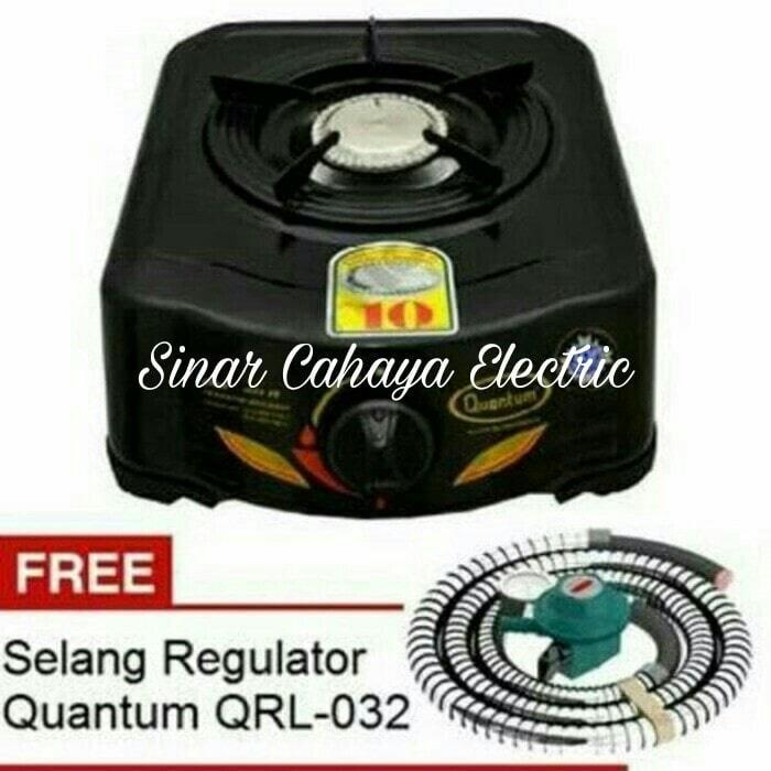 HOT PROMO!!! PAKET QUANTUM Kompor Gas QGC 101 R + Selang Regulator LPG QRL 032 - HP5Zzt