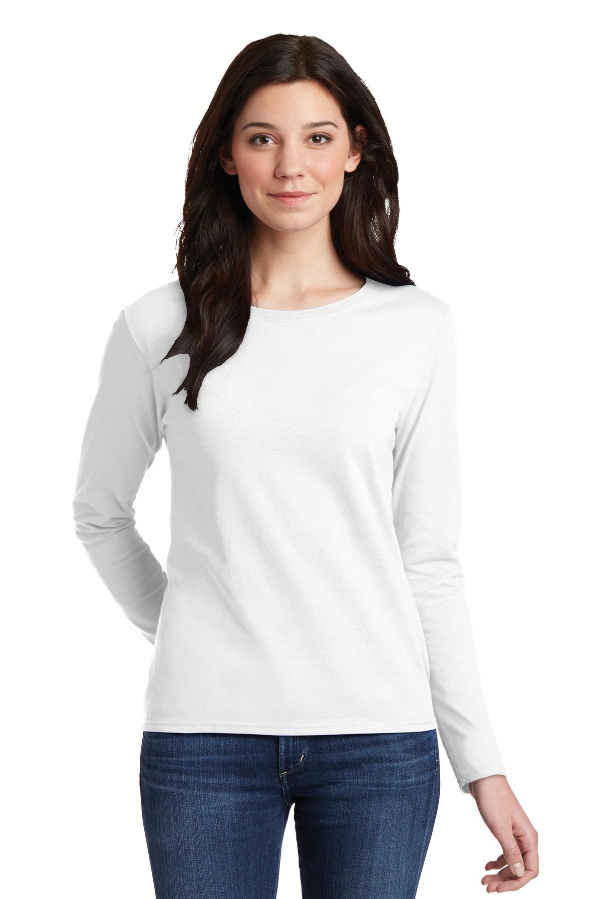 MegLio Kaos Polos Wanita - T - Shirt Unisex cewek cowok Lengan Panjang