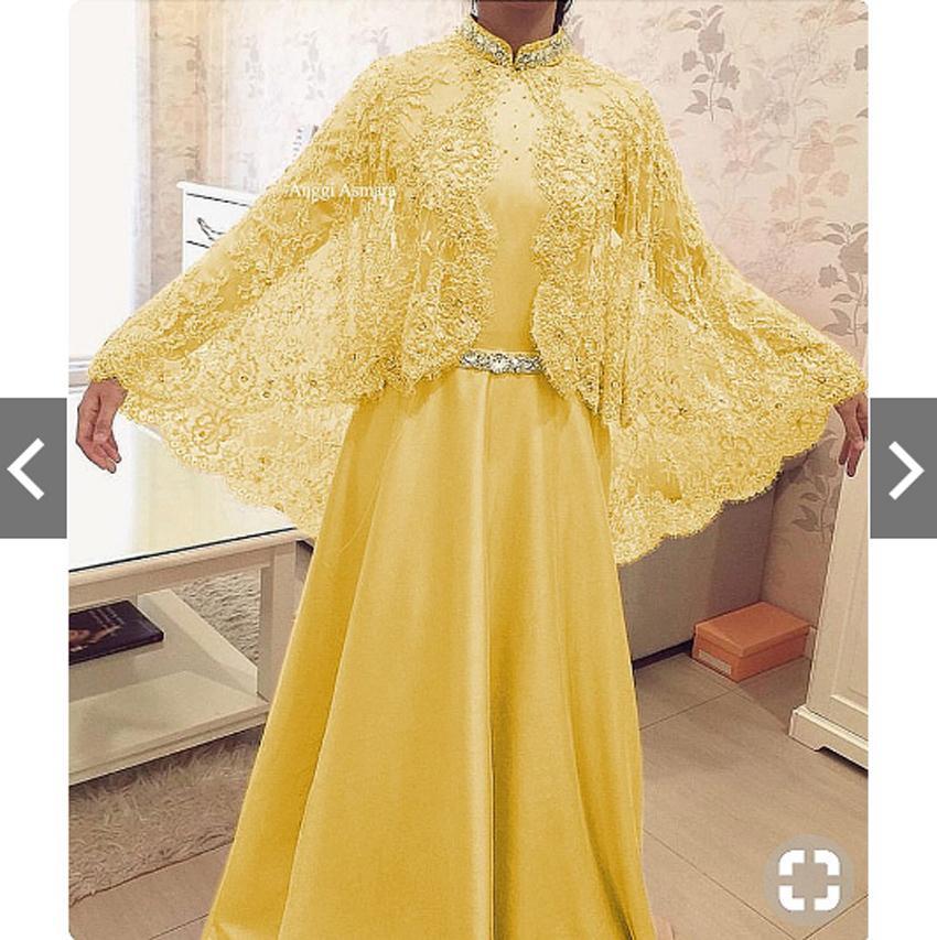 IndonesiaHeritage Gamis Pesta Brukat Impor Mewah Elegan Original Real Pic Gamis Syari Pesta Premium Modern Fashion Baju Kondangan Lebaran Muslimah Muslim Wanita Terbaru Kekinian Gaun Pesta Hijaber Party Maxi Dress Kebaya Modern Wisuda Brokat Jumbo ihanggi
