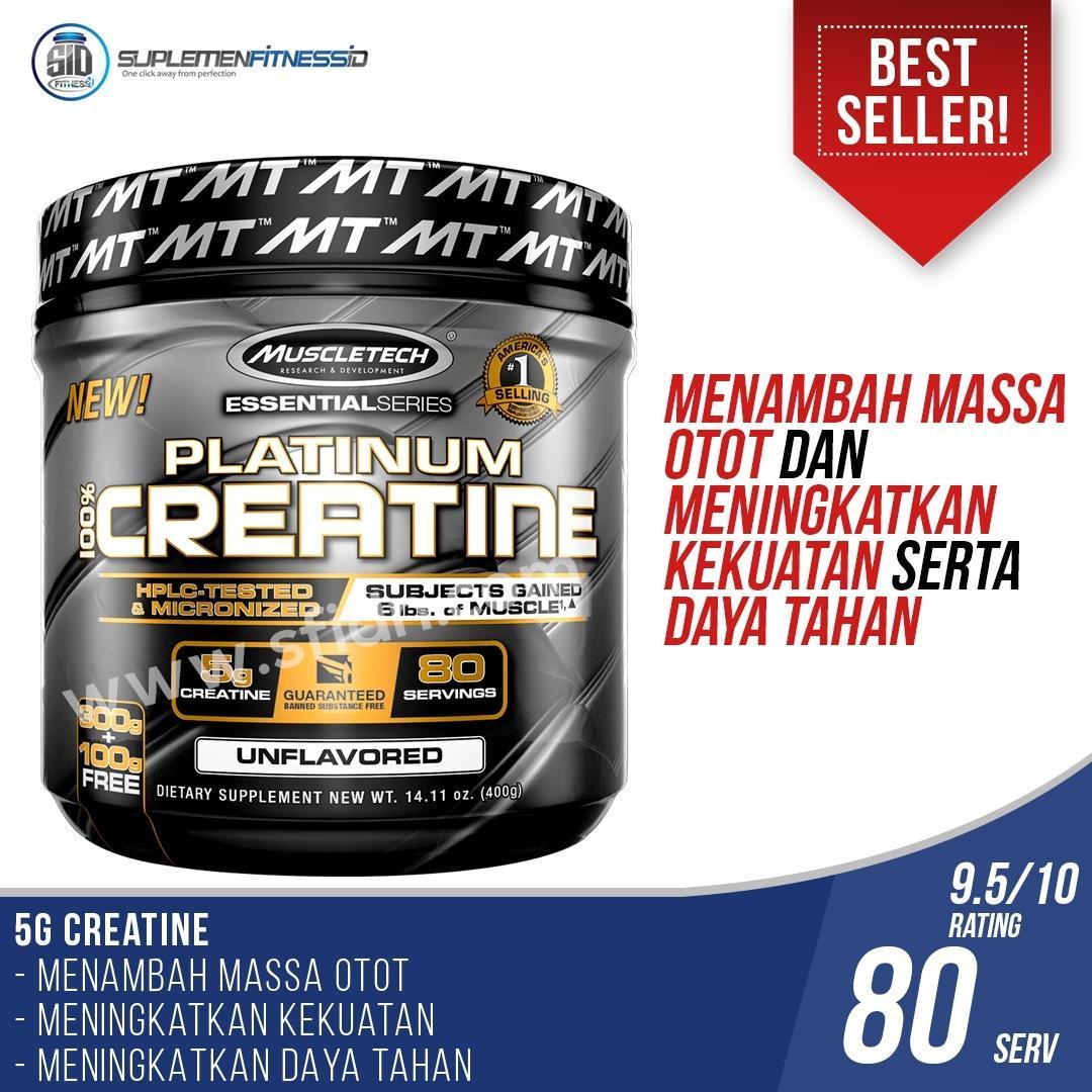 Muscletech Platinum Creatine - 400gr By Suplemen Fitness Id.