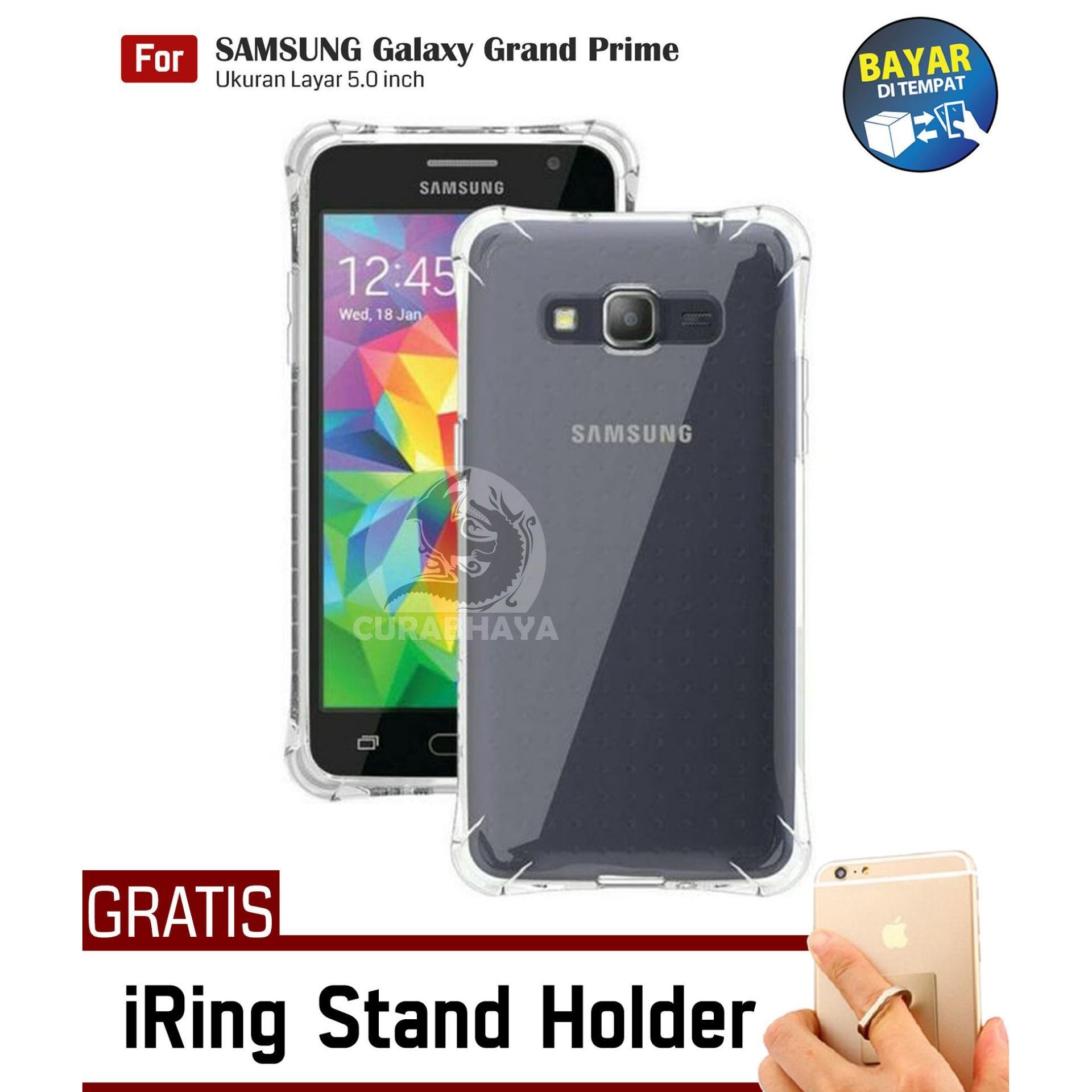 AirShock Samsung Galaxy Grand Prime (G530) / +Plus / Duos   Anti Crack Premium Softcase Cushion ShockProof + Gratis Free iRing Stand