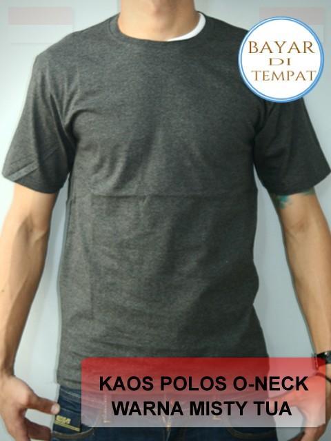 Kaos Polos Oneck Lengan Pendek Catton Combed 20s - Unisex