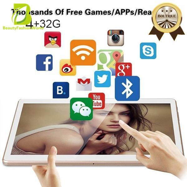 Beautyfashionworld Berteknologi Tinggi 10 ''Octa-Core 4g Ram 32g ROM Android 5.1 Dual SIM IPS Layar MIC US Plug-Intl