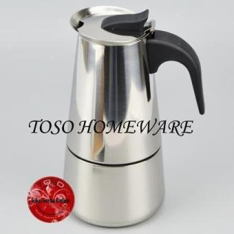 Price Checker Moka Pot Stainless 6 Cup Mokapot Espresso Coffee Maker Pembuat Kopi Genzakitchen pencari harga - Hanya Rp145.350