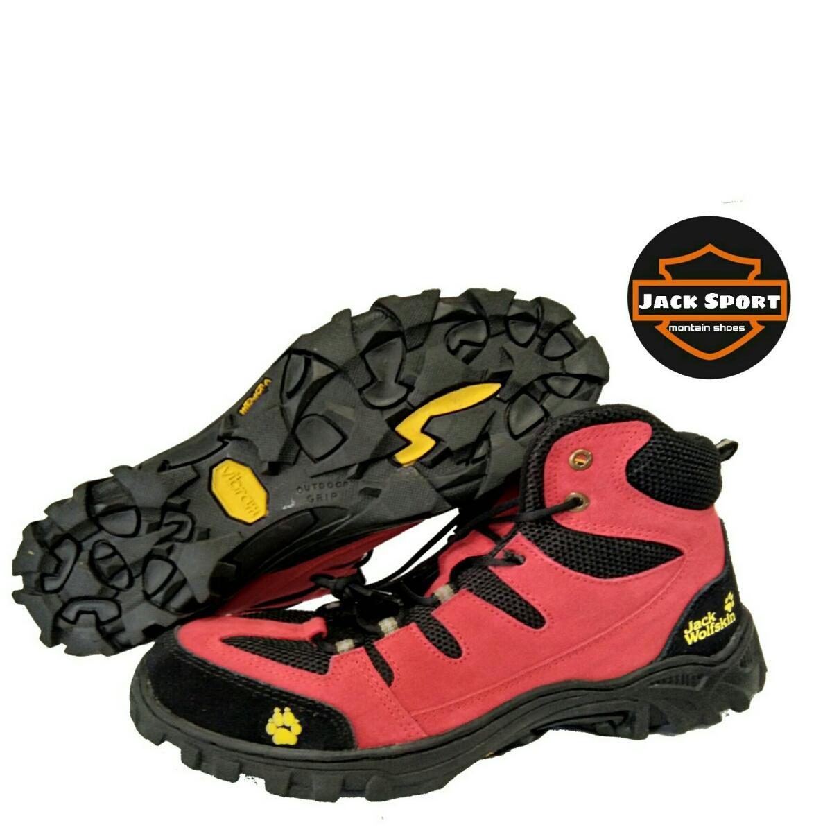 Sepatu Olahraga Outdoor - Sepatu Hiking Pria - Sepatu Jack Wolfskin - Sepatu Tracking - Sepatu Proyek - Sepatu Pendaki Gunung - Waterproof Termurah