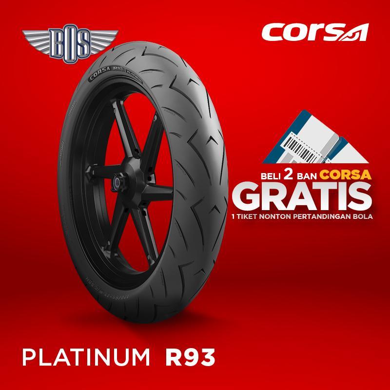 Ban Motor Corsa (Front/Rear)  R93 120/60-17-TUBELESS GRATIS JASA PASANG