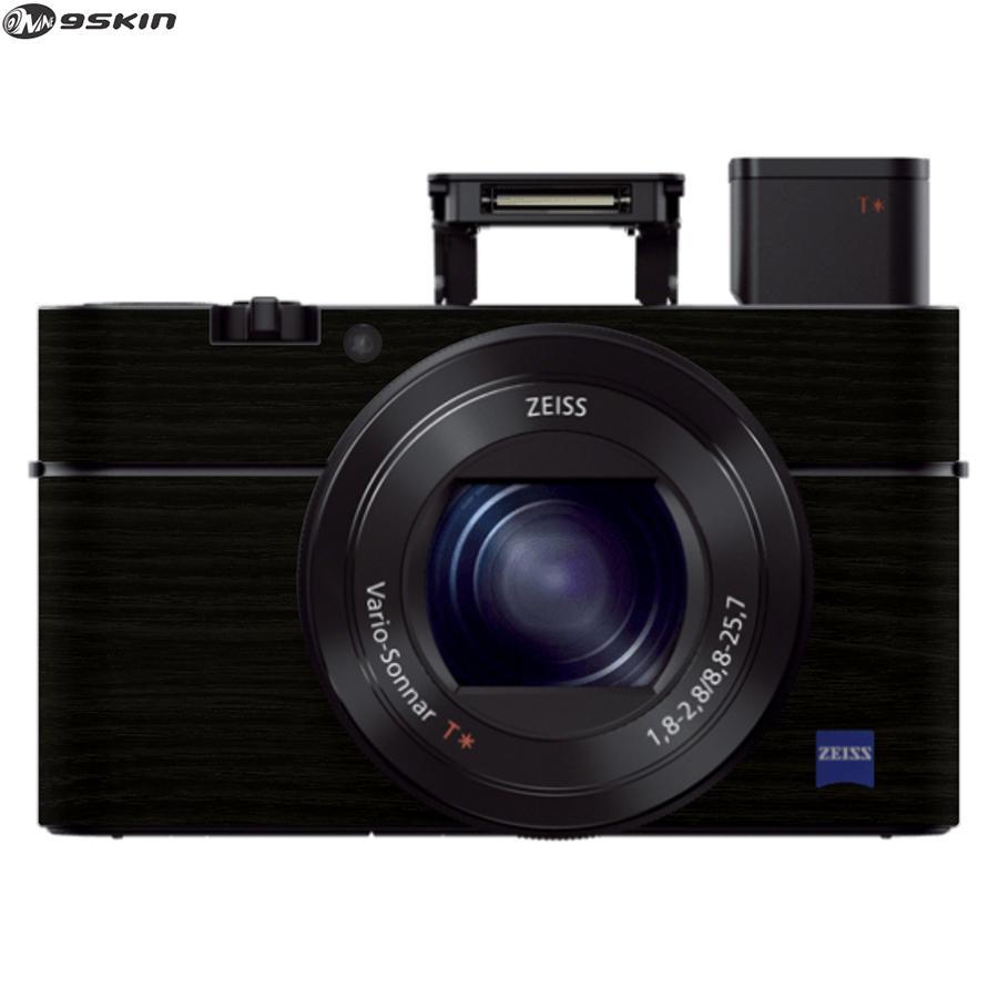 9Skin - Premium Skin Protector untuk Kamera Digital Sony RX100 III - Tekstur Wood - Hitam