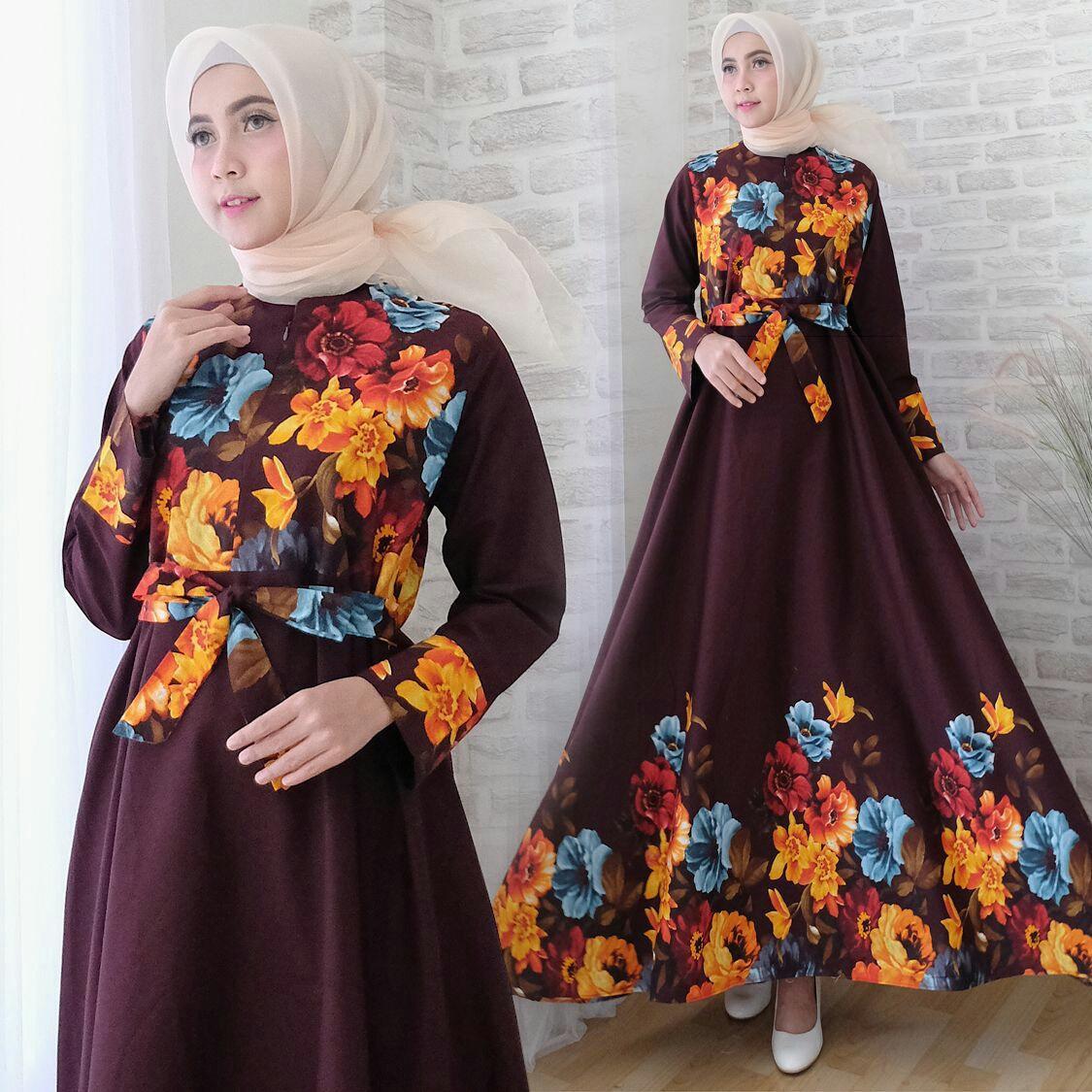 Snowshop Gamis Syari Viona - Baju Muslim / Fashion Wanita / Baju wanita / Baju Gamis / Busui / Gaun / Katun Paris / XL / Jumbo / Syari