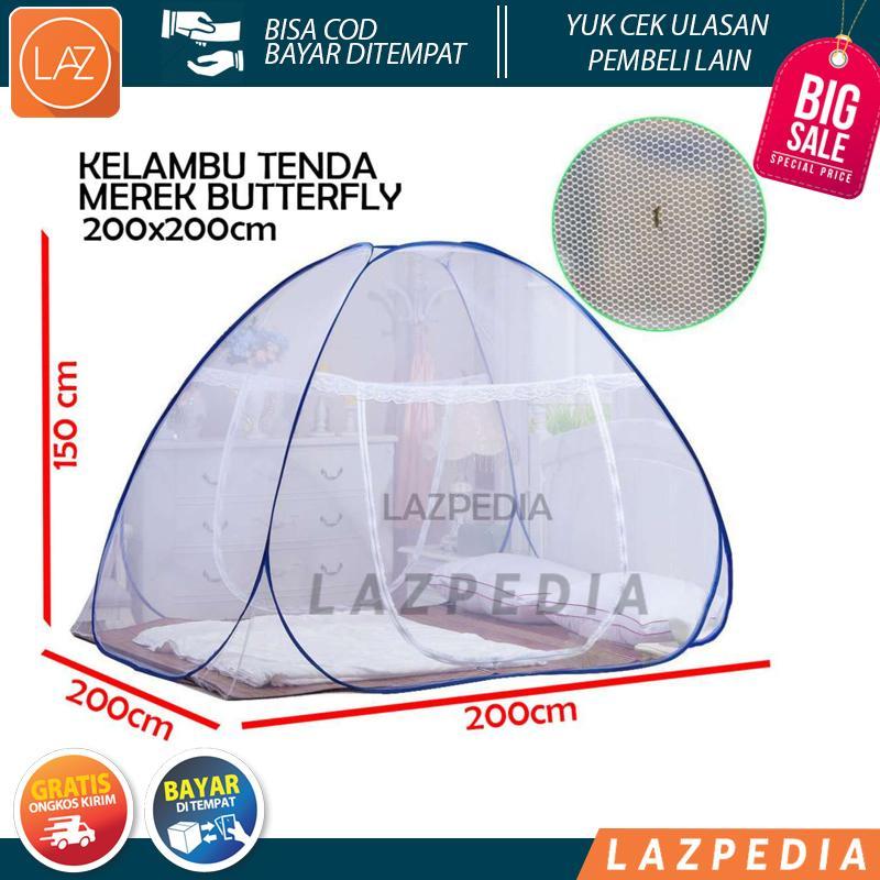 A68 - COD - Butterfly Kelambu Tenda 200x200 cm Kelambu Tidur Kelambu Kasur Lipat Kelambu Anti Nyamuk Kasa Nyamuk Lazpedia 200 - L1N5
