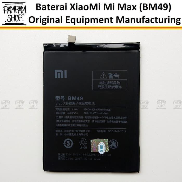 Baterai Handphone XiaoMi Mi Max 1 BM49 Original OEM Battert Batre Batrai BM 49 HP Xiao Mi Redmi Ori