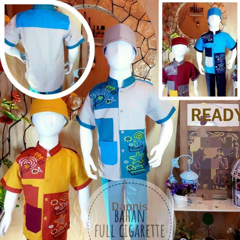 Baju Muslim Anak ZGS80 STELAN KOKO ANAK BAHAN DANNIS MURAH NEW ARRIVAL BEST SELLER ()