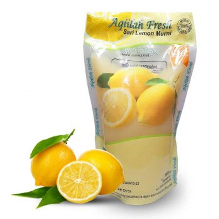 Aqiilah Fresh Sari Lemon Murni 500 Ml - 1 Pack By Apotek Miami (minimarket Vegan).