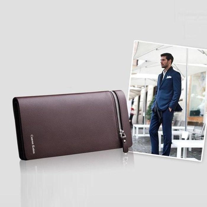 Dompet Pria Curewe Kerien Panjang Kulit Sintetis PU Leather Premium - Dompet Eksekutif Pria Banyak