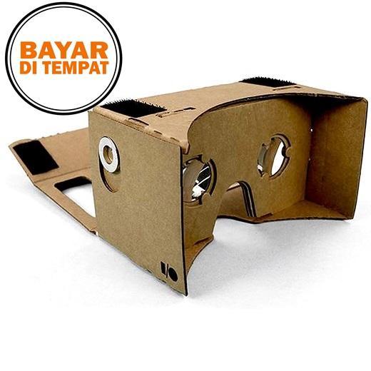 Rimas Cardboard Virtual Reality Large Size For Smartphone Up To 6 Inch - Black Magnet Hitam - Card Board Papan Vr Ukuran Besar Sampai 6inch Oem Hp