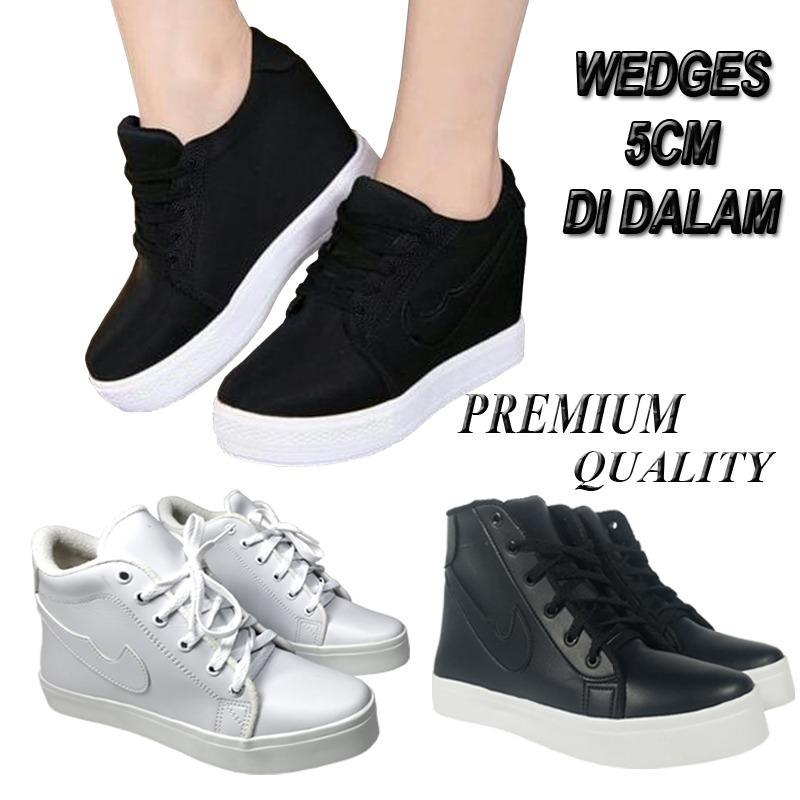 BD06 Sneakers wedges wanita korea