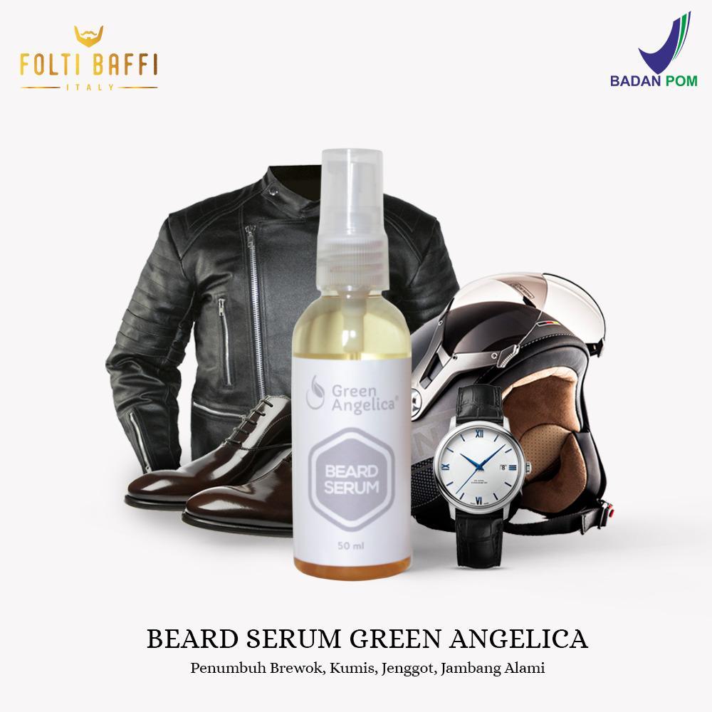 Obat Cepat Penumbuh Bulu Brewok Kumis Jenggot Jambang Alis Hasil Asli Dan Alami Green Angelica Beard