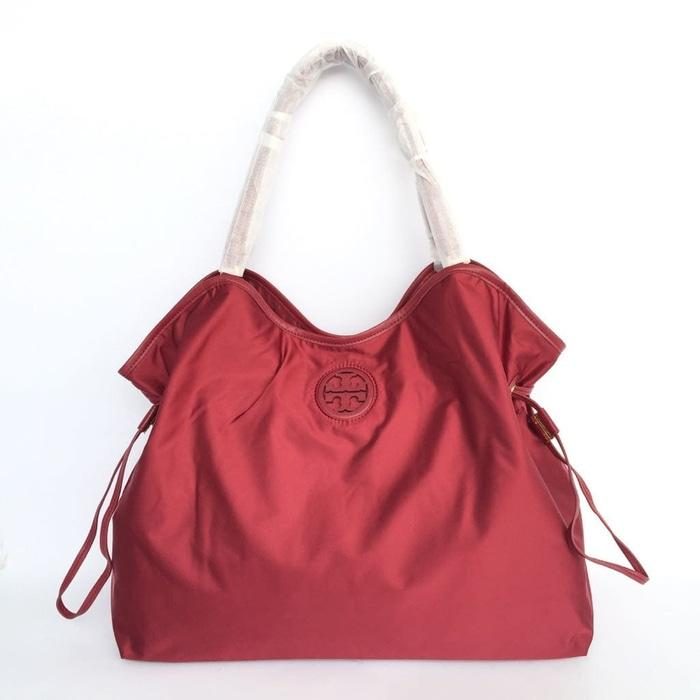 HOT PROMO!!! Tas Branded Tory Burch Nylon Slouchy Tote - RED - SCWV1H