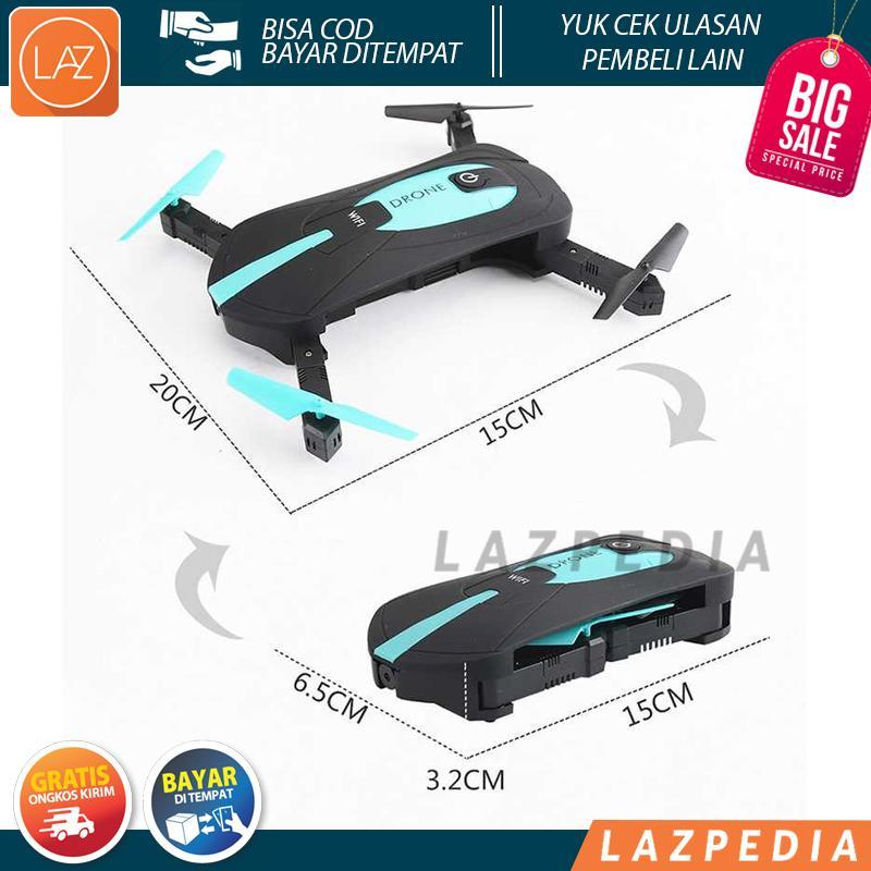 Laz Cod - Jy018 Elfie Fpv Quadcopter Drone Wifi 2mp 720p Camera / Hitam - Lazpedia A679 By Lazpedia.