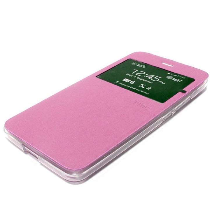 Ume Flip Cover untuk Oppo Neo 9 (A37) Flipshell / Leather Case / Sarung hp - Pink