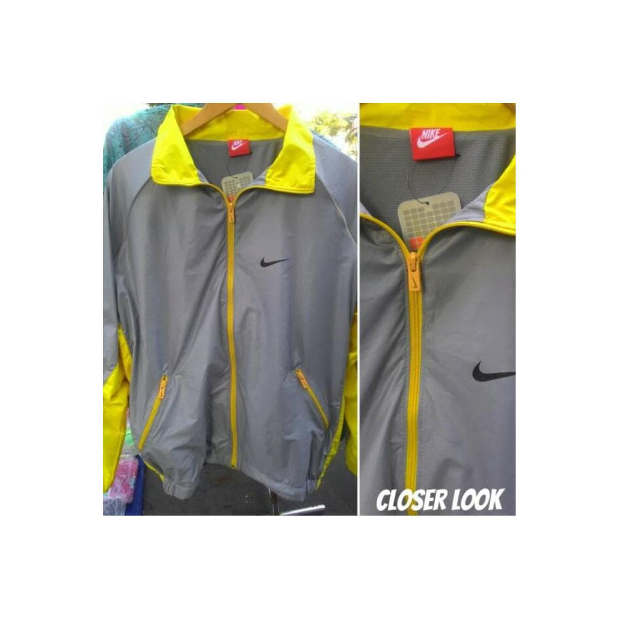 Jual Jaket Running Nike Waterproof Abu Kuning Hot