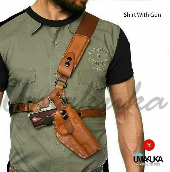 shirt white gun kaos 3d umakuka fullprint