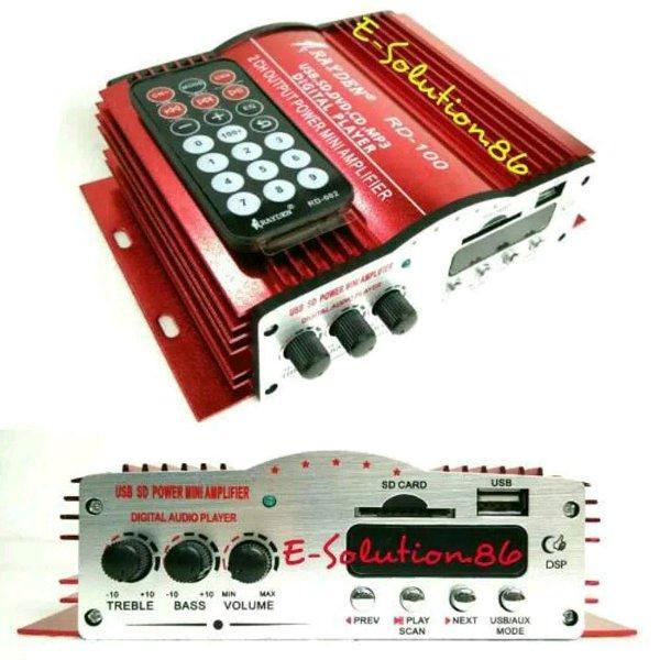 Power Ampli Mobil RAYDEN DC Digital Mp3 Player Modul Usb Fm Tape Mobil