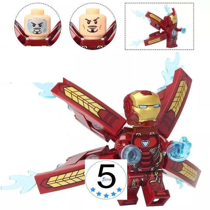 Lego Minifigure Iron Man Mark 50 Full Armor - 5star Avengers Infinity War - Bootleg Bnib Segel By 5 Star.