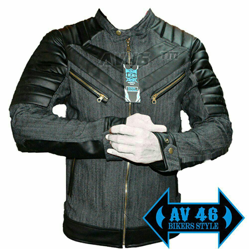AV46 Jaket Motor Denim V1 / Jaket Bikers Motor / Jake Jeans