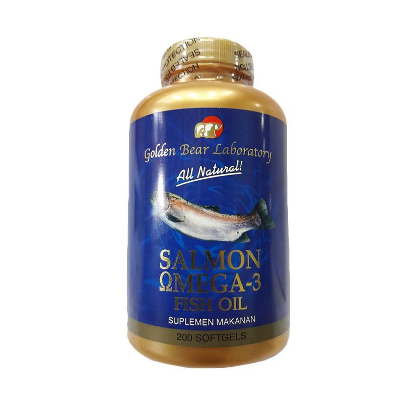 Golden Bear Salmon Omega 3 200's - Suplemen Jantung, Kolesterol, Hipertensi, Darah Tinggi, Minyak Ikan, Fish Oil, Nyeri Sendi, DHA