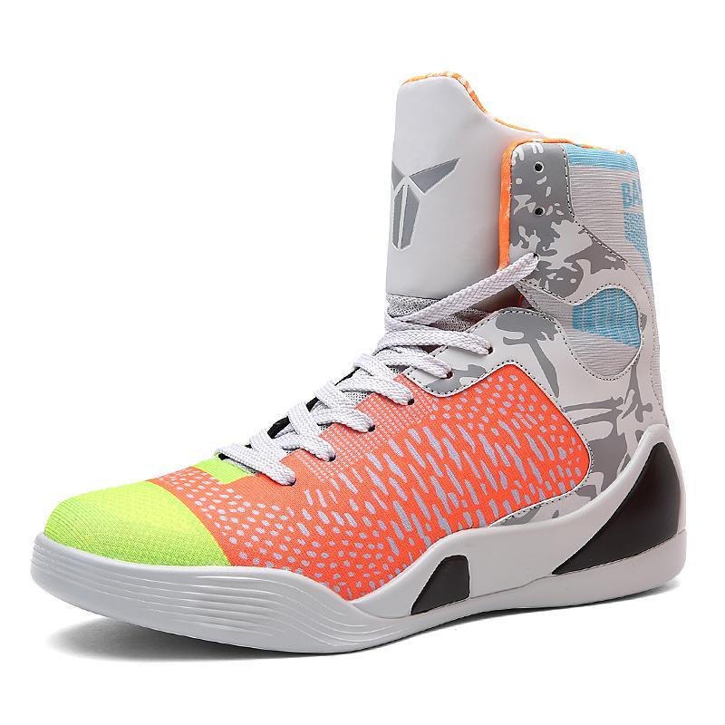 Profesional Asli Sepatu Keranjang Pria Latihan Sneakers Renda Hingga Keranjang Homme Autentik Olahraga Siswa Antislip Baloncesto Basquet Sepatu Keranjang Pria profesional