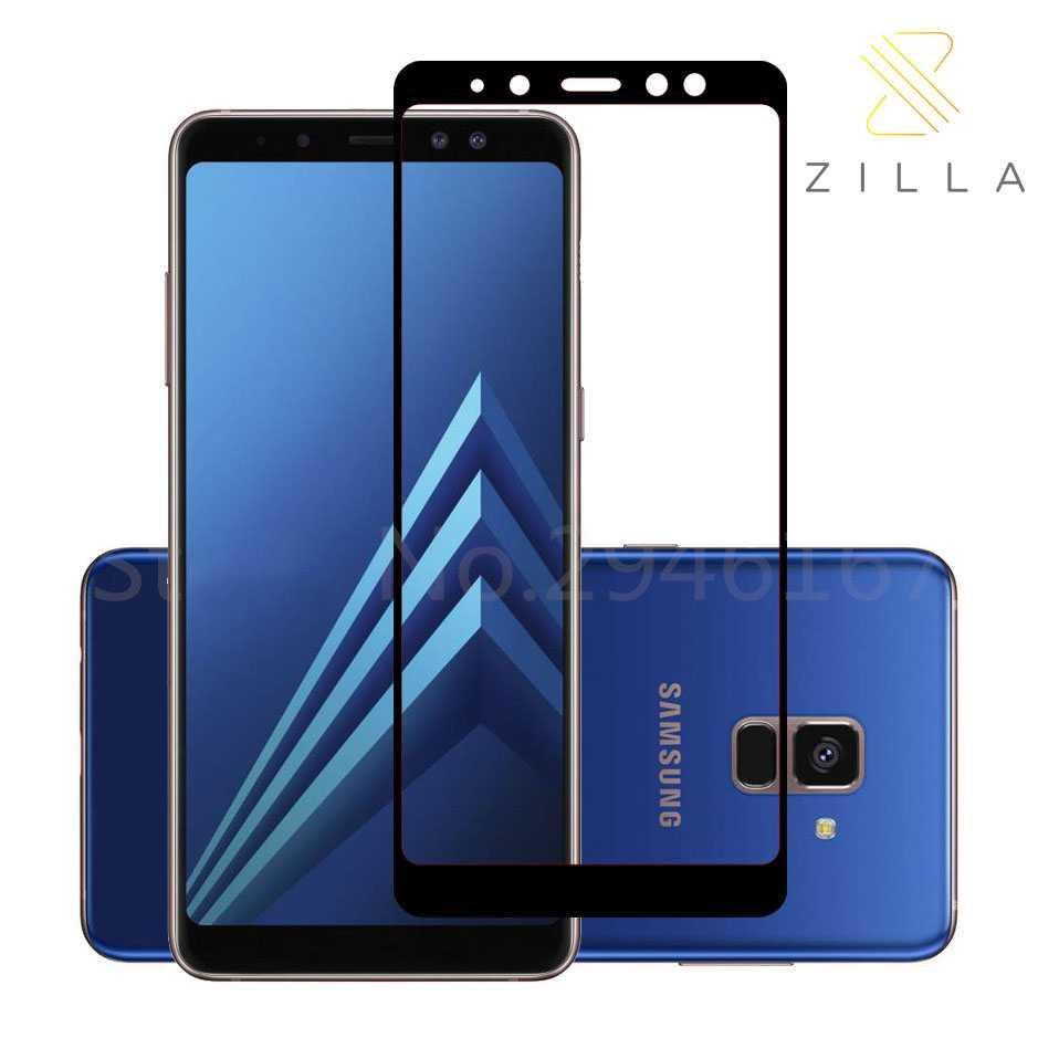 Zilla 2.5d Tempered Glass Full Cover 0.26mm For Samsung Galaxy A8 2018 By Ertov Store.